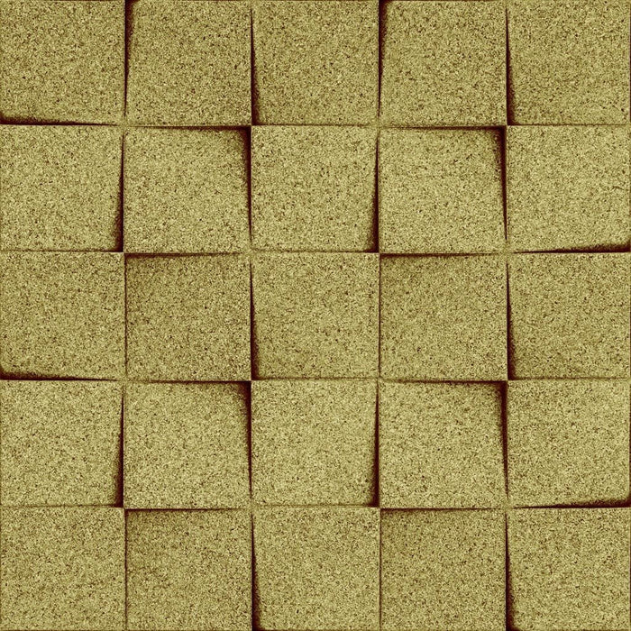 MURATTO CORK WALL DESIGN - ORGANIC BLOCKS - MINICHOCK - OLIVE
