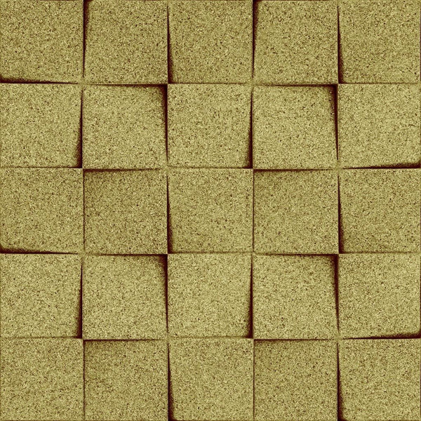 MURATTO CORK WALL DESIGN - ORGANIC BLOCKS - MINICHOCK - YELLOW