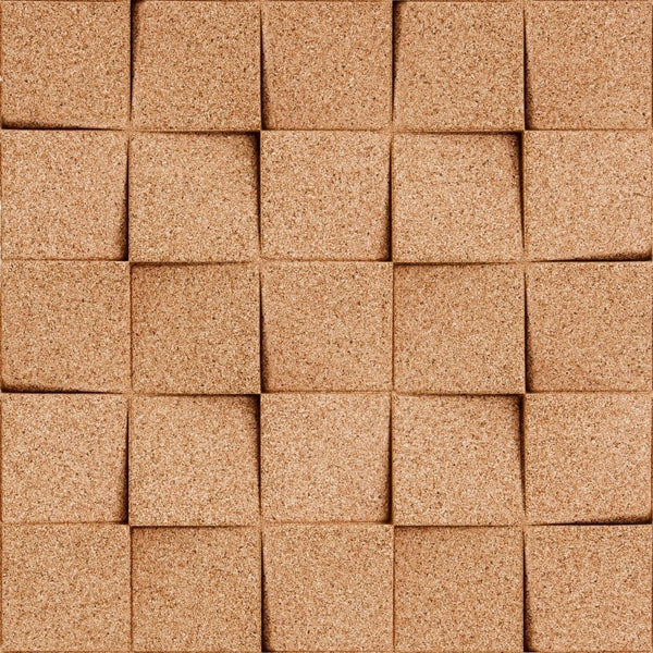 MURATTO CORK WALL DESIGN - ORGANIC BLOCKS - MINICHOCK - NATURAL