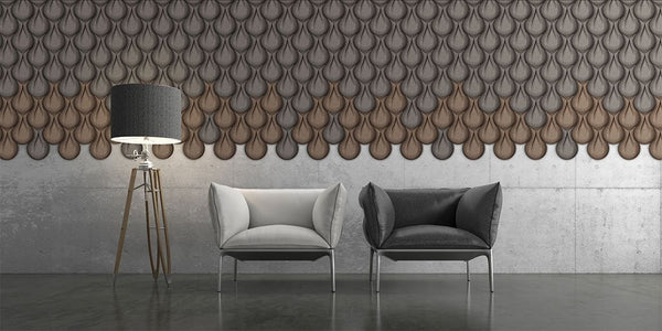 MURATTO CORK WALL DESIGN - ORGANIC BLOCKS - DROP - NATURAL
