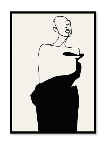 'Oswald' is a fashion silhouette poster from the