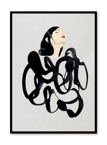 'Overwhelmed' is a fashion illustration poster from the Venus collection.