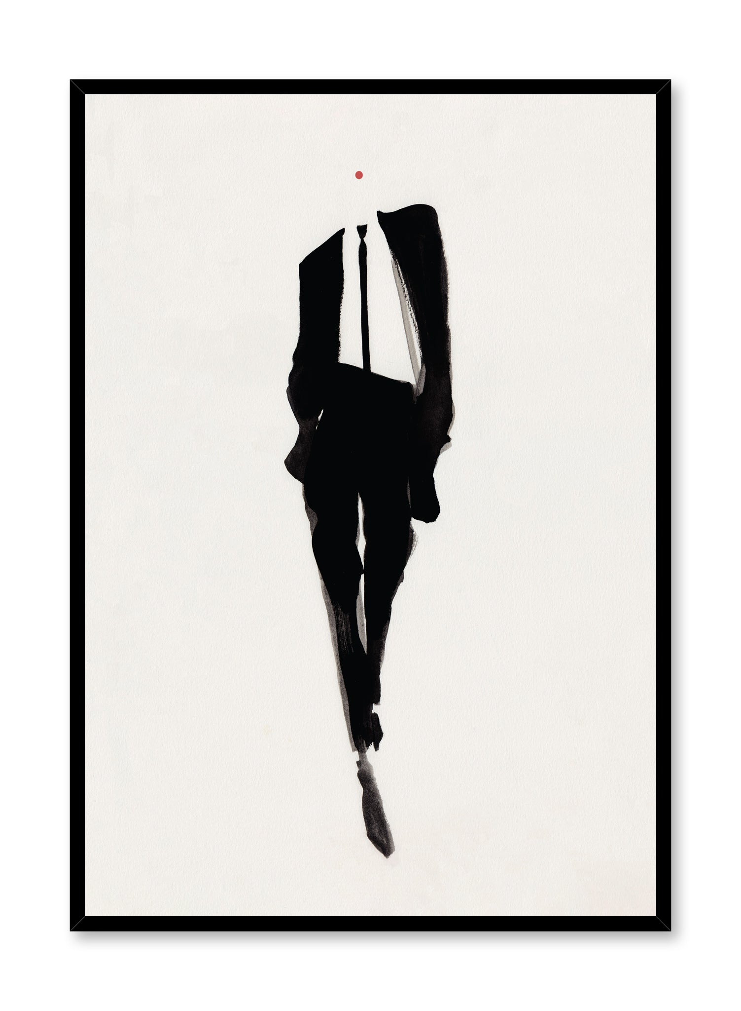 'Celine' is a fashion illustration poster from the Amelie Hegart collaboration collection.