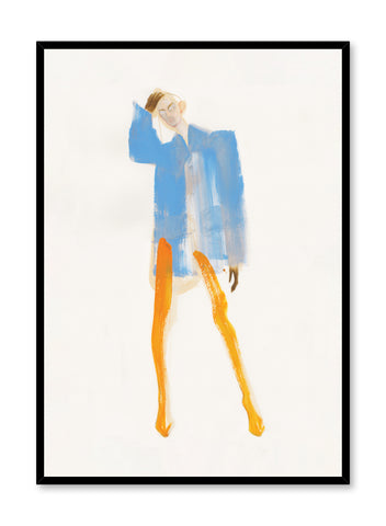 'Balenciaga' is a fashion silhouette illustration from the Amelie Hegardt collaboration