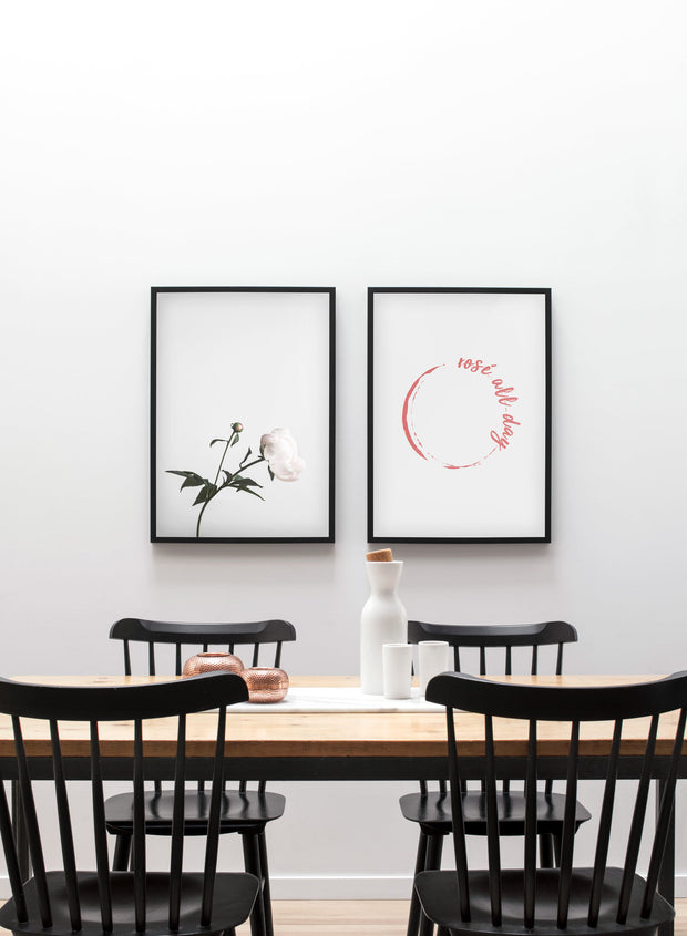Modern minimalist art print by Opposite Wall with trendy floral art photo Hope - Dining room