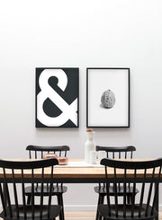Scandinavian poster by Opposite Wall with Strength black and white walnut art photo - Dining room