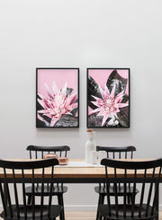 Scandinavian poster by Opposite Wall with trendy Prickly Pink cactus art photo print - Dining room