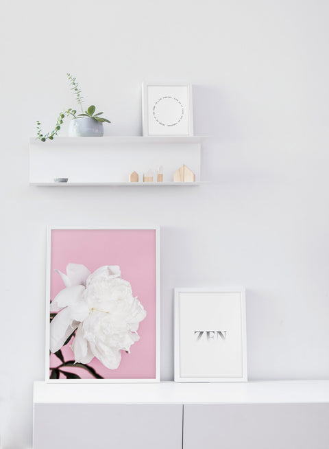 Minimalist poster by Opposite Wall with botanical Loveliness art photo - White living room
