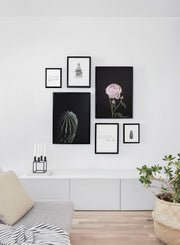 Scandinavian poster by Opposite Wall with Life is a Flower black and white typography design - Living room wall gallery