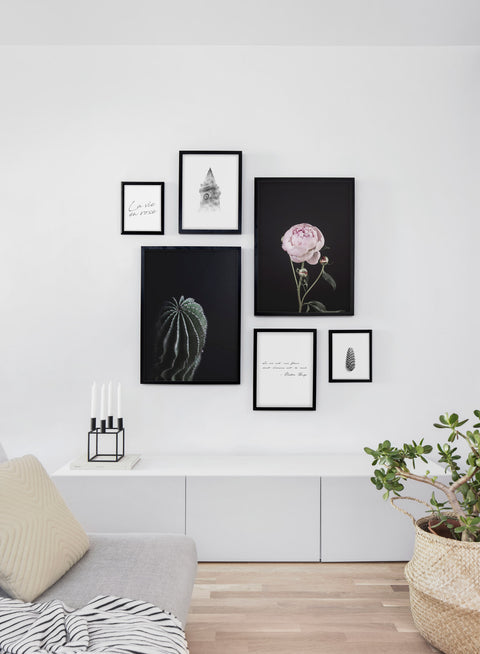 Modern minimalist poster by Opposite Wall with Shadows photo art - Living room wall gallery