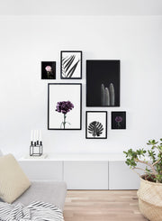minimalist art print by Opposite Wall with cool with cactus on black background - Living room wall gallery