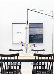 Modern minimalist poster by Opposite Wall with Sunset on the water photography - Dining room