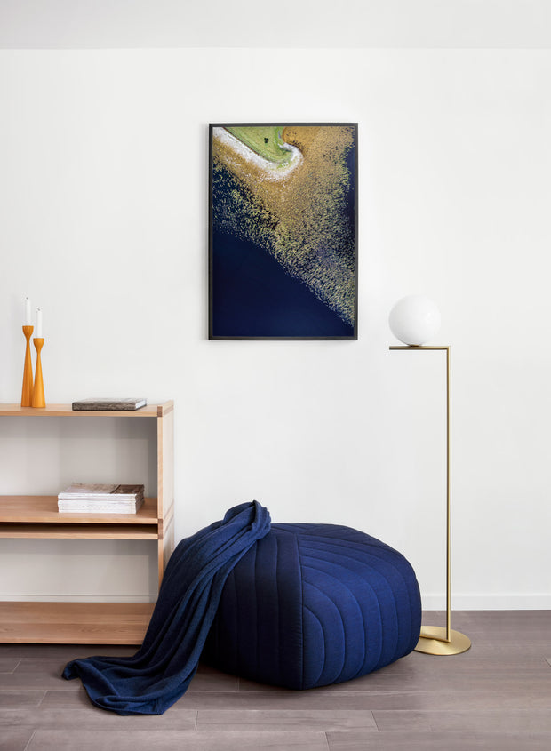 Birdview modern minimalist photography poster by Opposite Wall - Living room pouf