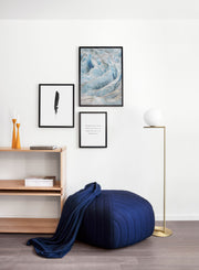Scandinavian print by Opposite Wall with Sideways art photo - Living room with a pouf