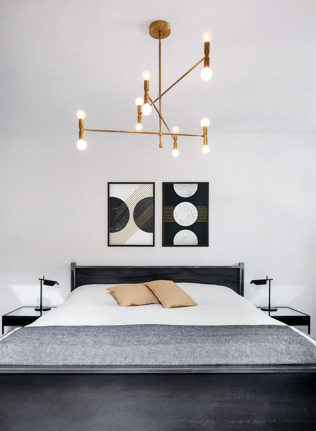 Minimalist art print by Opposite Wall with trendy graphic abstract design - Threefold - Bedroom