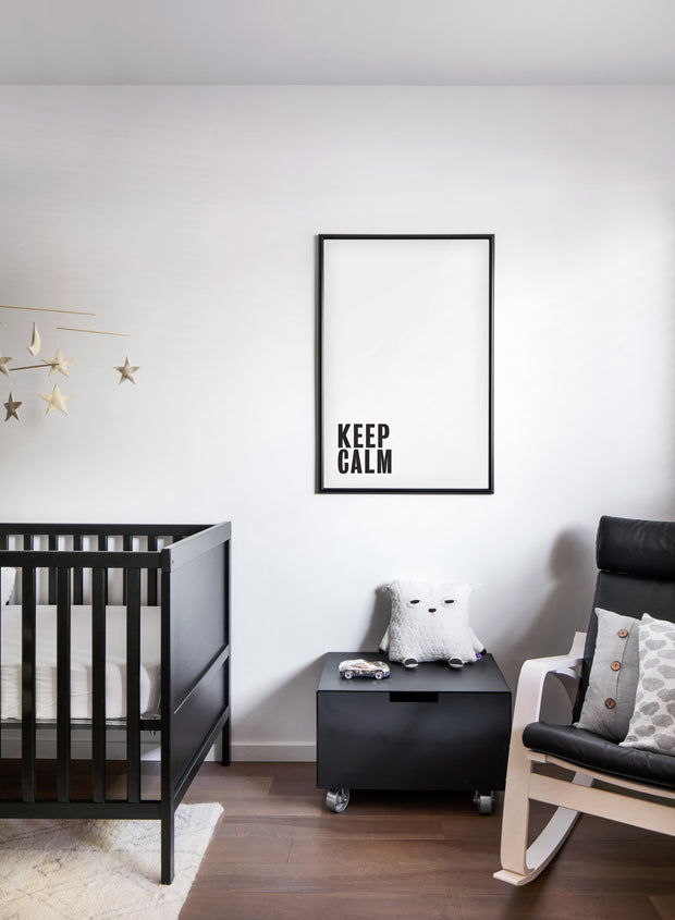 Scandinavian poster by Opposite Wall with Keep Calm typography design - Nursery room