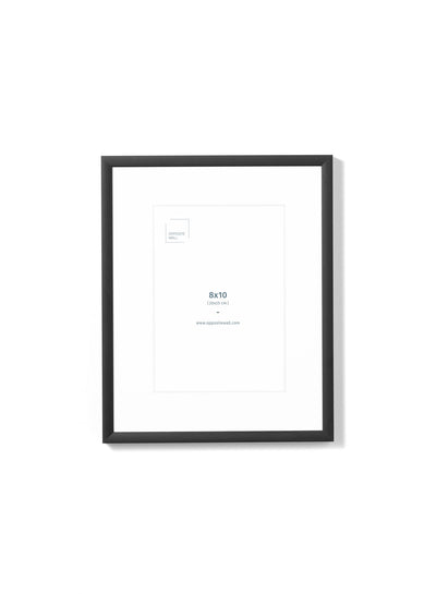 Scandinavian black aluminum metal frame by Opposite Wall - Front of the frame - Size 8x10