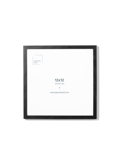 Scandinavian black oak frame by Opposite Wall - Front of the wood frame - size 12x12 inches