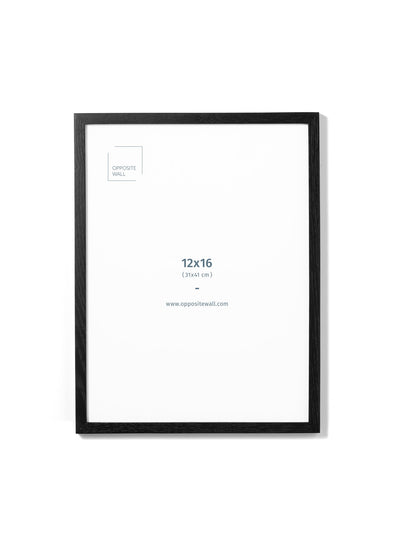 Scandinavian black oak frame by Opposite Wall - Front of the frame - Size 12x16 inches