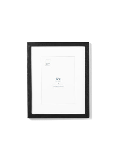 Scandinavian black oak frame by Opposite Wall - Front of the frame - Size 8x10 inches