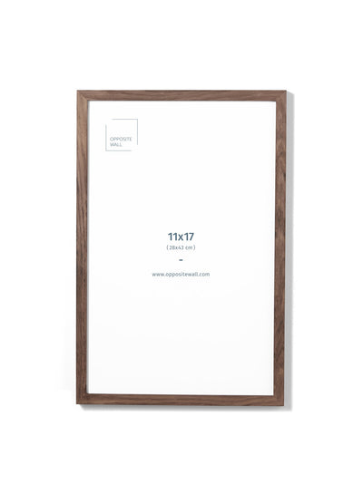 Scandinavian dark oak frame by Opposite Wall - Front of the frame - Size 11x17