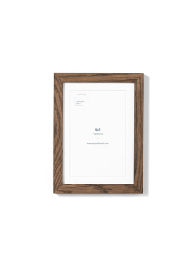 Scandinavian dark oak frame by Opposite Wall - Front of the frame - Size 5x7