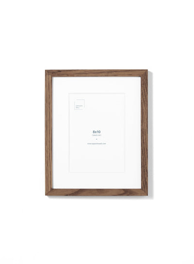 Scandinavian dark oak frame by Opposite Wall - Front of the frame - Size 8x10