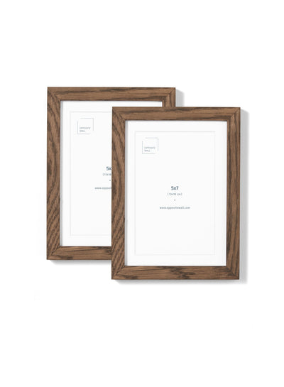 Scandinavian dark oak frame duo by Opposite Wall - Front of the frame - Size 5x7