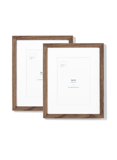 Scandinavian dark oak frame duo by Opposite Wall - Front of the frame - Size 8x10