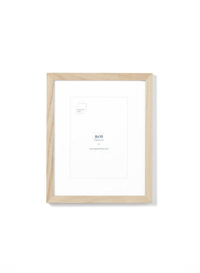 Scandinavian natural wood frame by Opposite Wall - Front of the frame - Size 8x10 inches