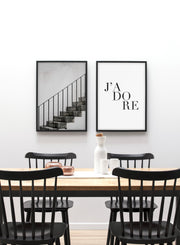 Staircase modern minimalist photography poster by Opposite Wall - Dining room