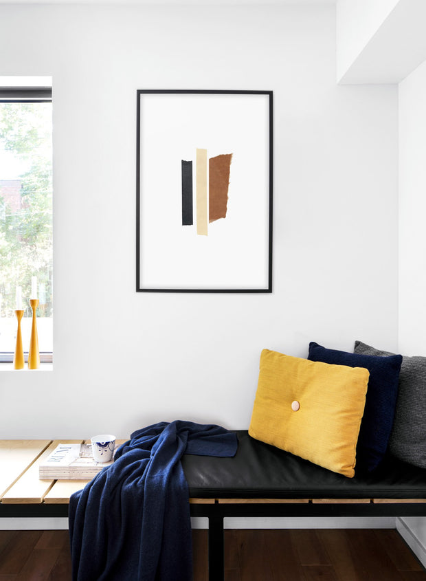 Scandinavian poster by Opposite Wall with hand-made art design abstract Collage No.2 - Cozy living room nook