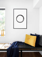 Scandinavian poster by Opposite Wall with Black Circle hand-made art design - Cozy living room nook