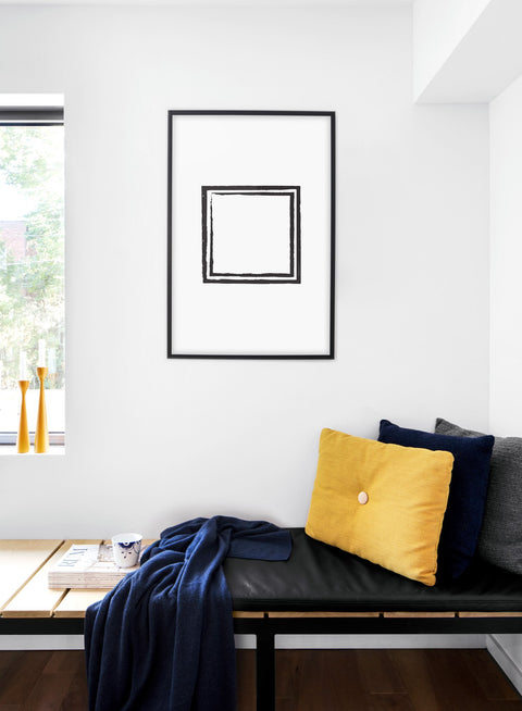 Scandinavian poster by Opposite Wall with Black Square hand-made art design - Cozy living room nook