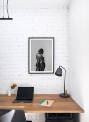 Modern minimalist poster by Opposite Wall with black and white fashion woman  - Home personal office