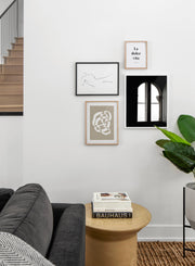 Arched Window modern minimalist photography poster by Opposite Wall - Living room
