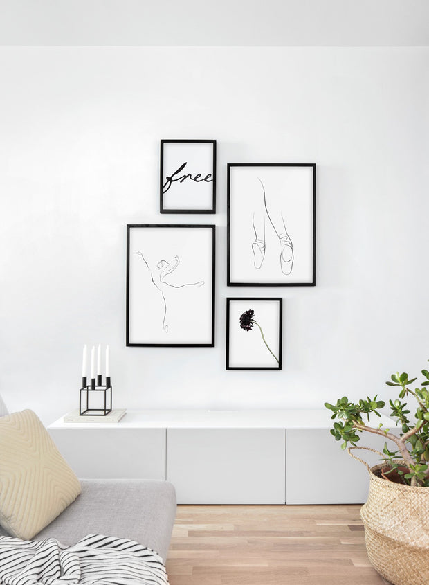Modern minimalist poster by Opposite Wall with abstract illustration of Pointe - Gallery wall quatro - Living room