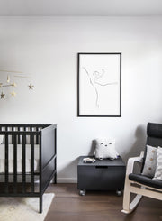 Modern minimalist poster by Opposite Wall with abstract illustration of Arabesque - Nursery
