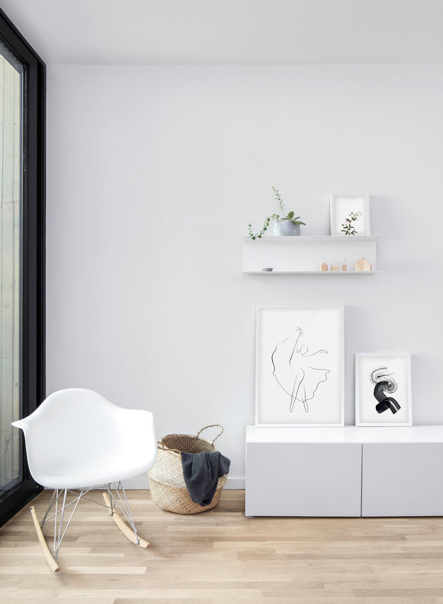 Modern minimalist poster by Opposite Wall with abstract illustration of Attitude - Gallery wall trio - Living room