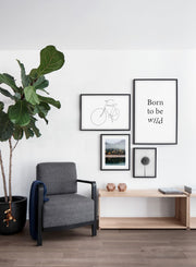 Modern minimalist poster by Opposite Wall with abstract illustration of Fresh Start - Gallery wall quatro - Living room