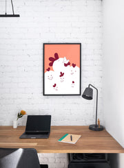 Modern minimalist poster by Opposite Wall with chicken illustration  - kids collection - personal office