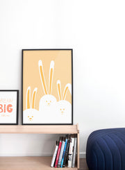 Modern minimalist poster by Opposite Wall with an illustration of a rabbit family - kids collection