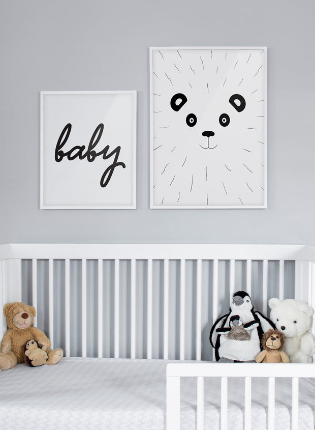 Modern minimalist poster by Opposite Wall with an illustration of a panda - kids collection - nursery