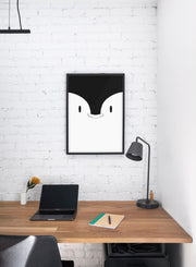 Modern minimalist poster by Opposite Wall with an illustration of a penguin- kids collection - nursery