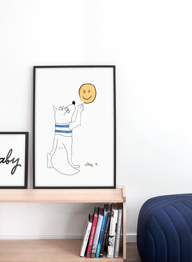 Modern minimalist poster by Opposite Wall with fox illustration  - kids collection
