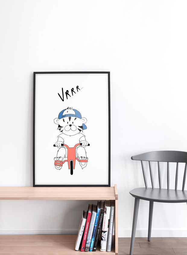 Modern minimalist poster by Opposite Wall with an illustration of a tigre - kids collection