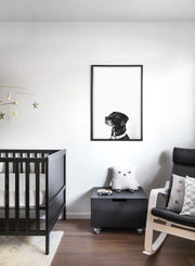 Modern minimalist poster by Opposite Wall with a photo of a dog - kids collection - nursery