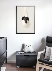 Modern minimalist poster by Opposite Wall with a photo of a puppy - kids collection - nursery
