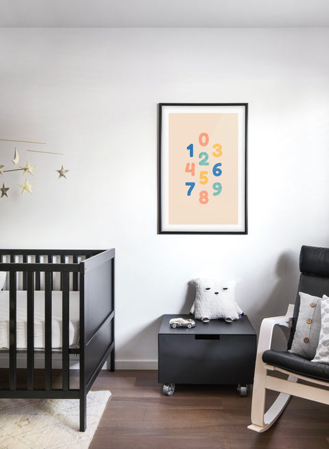 Modern minimalist poster by Opposite Wall with typography of numbers- kids collection - nursery