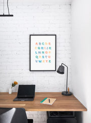 Modern minimalist poster by Opposite Wall with Alphabet illustration  - kids collection - personal office
